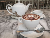 Hot fresh coffee Royalty Free Stock Photo