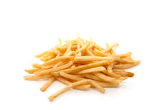 Hot and fresh French fries. On a white background Royalty Free Stock Images