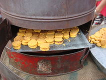 Hot and fresh naan khatai. In handmade oven in india royalty free stock photo