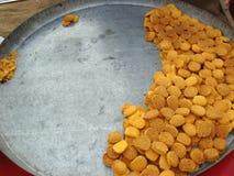 Hot and fresh naan khatai. Selling at street market stock photos