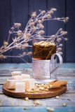 Tea with turkish delight Stock Photography