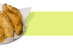 Hot fried Calzone Stock Photo