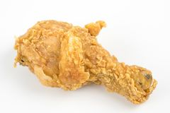 Fried chicken isolated on the white background. Royalty Free Stock Photos