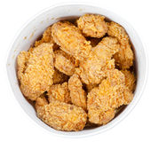 Hot fried chicken wings basket Royalty Free Stock Photography
