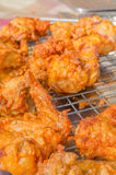 Hot fried chicken wings Stock Image