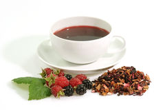 Hot fruit tea Stock Photos