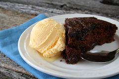 Hot Fudge Cake Royalty Free Stock Photo