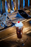 Hot fudge sundae Royalty Free Stock Image