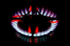 Hot gas burner Stock Photo