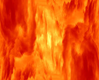 Hot gaseous nebula. Abstract shot of the fire and flame - gaseous nebula Stock Images