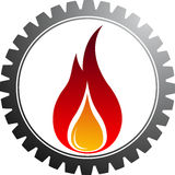Hot gear. Illustration art of a hot gear with isolated background Royalty Free Stock Photos