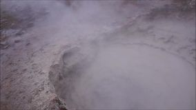 Hot geothermal waters boiling stock video footage