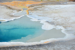 Hot geyser pool in Old Faithful area Stock Image