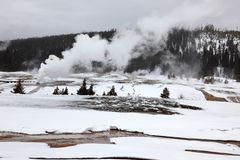 Hot geysers in Yellowstone NP Stock Photo
