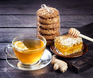 Hot ginger lemon honey Stock Images