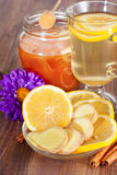 Hot ginger lemon tea Royalty Free Stock Photo