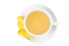 Hot ginger tea in a cup Royalty Free Stock Photography