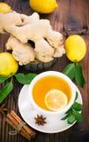 Hot ginger tea Royalty Free Stock Photos