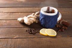 Hot ginger tea Royalty Free Stock Image