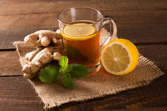 Hot ginger tea Royalty Free Stock Photos