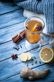 Hot ginger tea with spices Royalty Free Stock Image