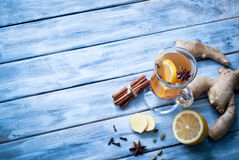 Hot ginger tea with spices Royalty Free Stock Photo