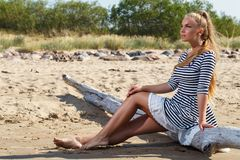 Hot girl on the beach Stock Photo