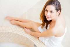 Hot girl relaxing Royalty Free Stock Image