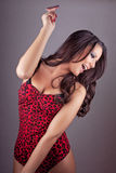 Hot girl smiling and dancing Royalty Free Stock Image