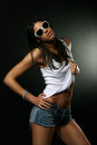 Hot girl in sunglasses Stock Photos