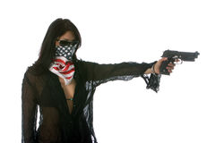 Hot Girls With Guns Concepts Stock Image