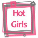 Hot Girls Pink Grey Frame Royalty Free Stock Photo