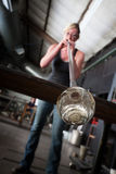 Hot Glass Blowing Stock Image