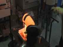 Hot Glass stock video footage