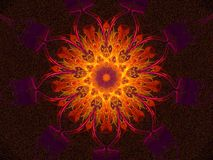 Hot glowing mandala Royalty Free Stock Photos