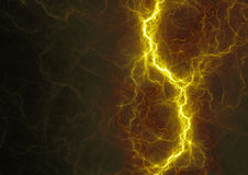 Hot golden lightning Royalty Free Stock Image