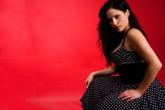 Hot gothic girl Stock Image