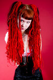 Hot gothic girl Royalty Free Stock Images