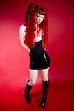 Hot gothic girl Stock Photo