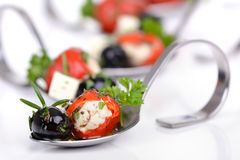 Hot Greek appetizers Stock Photography