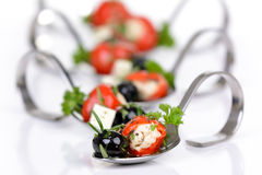 Hot Greek appetizers Stock Photo