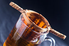 Hot green tea Stock Photography