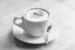 Hot green tea latte Stock Images