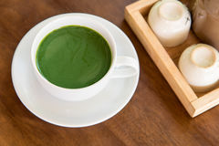 Hot green tea matcha Stock Image