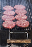 Hot grill burger cutlet barbeque on grating Stock Photo