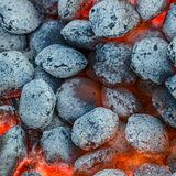 Hot grill coal Stock Photography