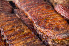 Hot Grilled Ribs Stock Photos
