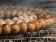 Hot grilled sausages Royalty Free Stock Image