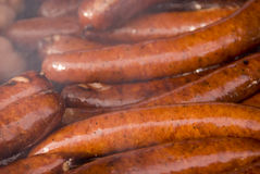 Hot Grilled Sausages Stock Photo