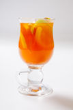 Hot grog. Hot cocktail in the glass. Royalty Free Stock Photos